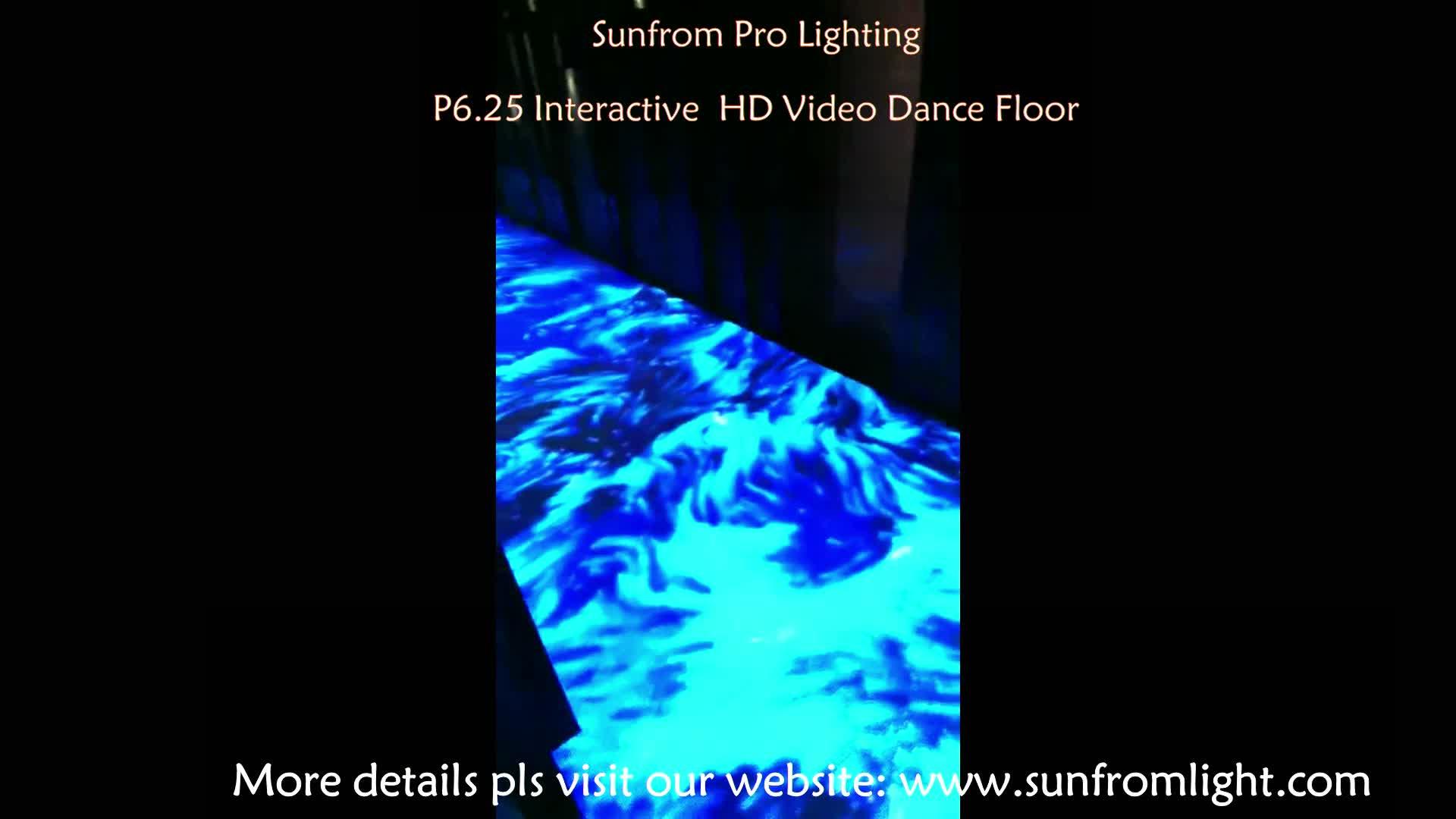 Nieuwste High-end Super HD P6.25 Video Dance Floor Tegels Draagbare Light Up Led Interactieve Vloer Voor Luxe Event of Projecten Koop