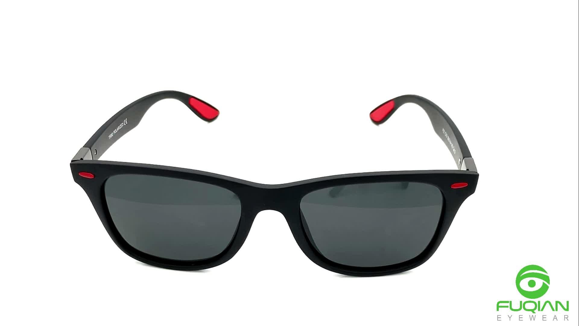 2019 most popular plastic square driving eyewear mens sunglasses polarized