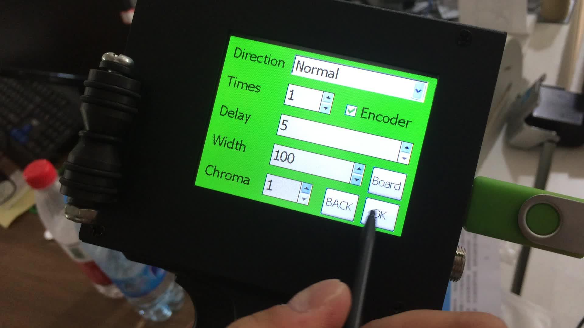 Mini handheld printer, datum en batch afdrukken machine met inkt cartridge voor industrie gebruik