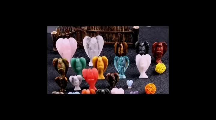 Mão de alta Qualidade Preto Obsidian Esculpido Anjo Estatuetas Para Decoração