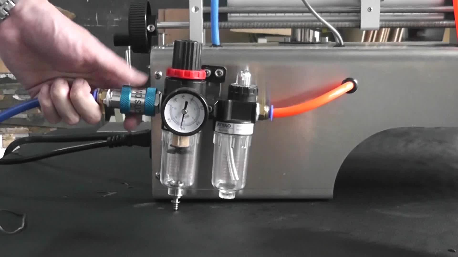 Bespacker G1WGD USA pneumatic semi auto liquid paste oil sauce honey shampoo filling machine with heater and mixer