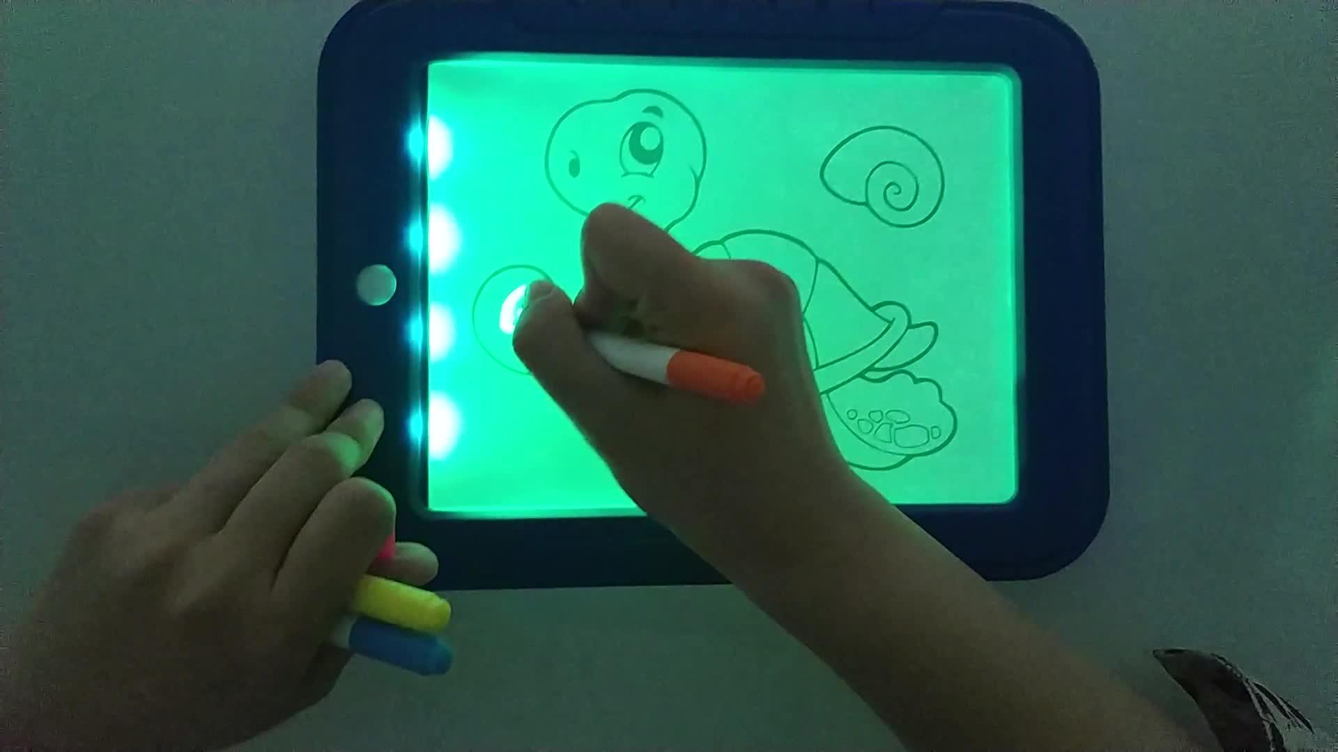 9 Inch Drawing Board Lampu LED Digital Papan Tulis Huruf Gambar Stensil untuk Orang Dewasa Chidren Dropship 3D Menggambar Pad