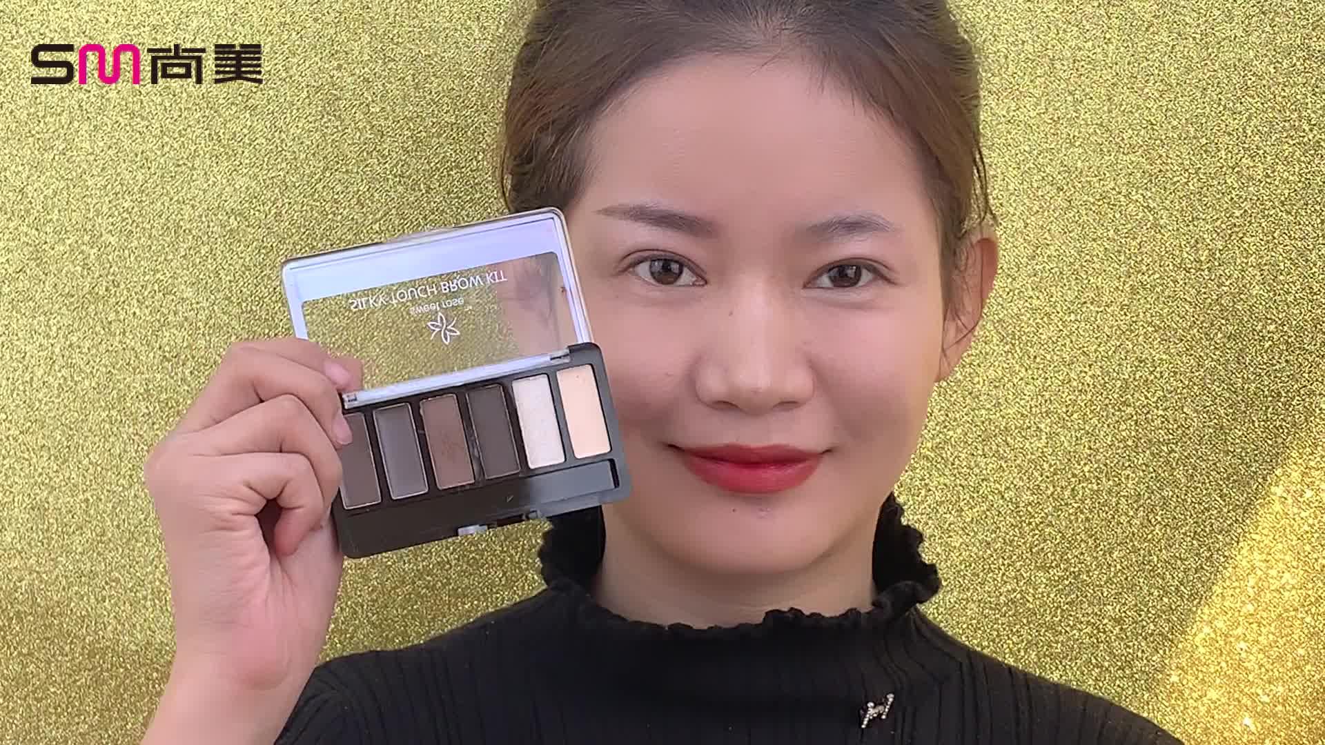 Atacado Long-Lasting Brow Pó para Maquiagem Dos Olhos Private Label Único À Prova D' Água Sobrancelha