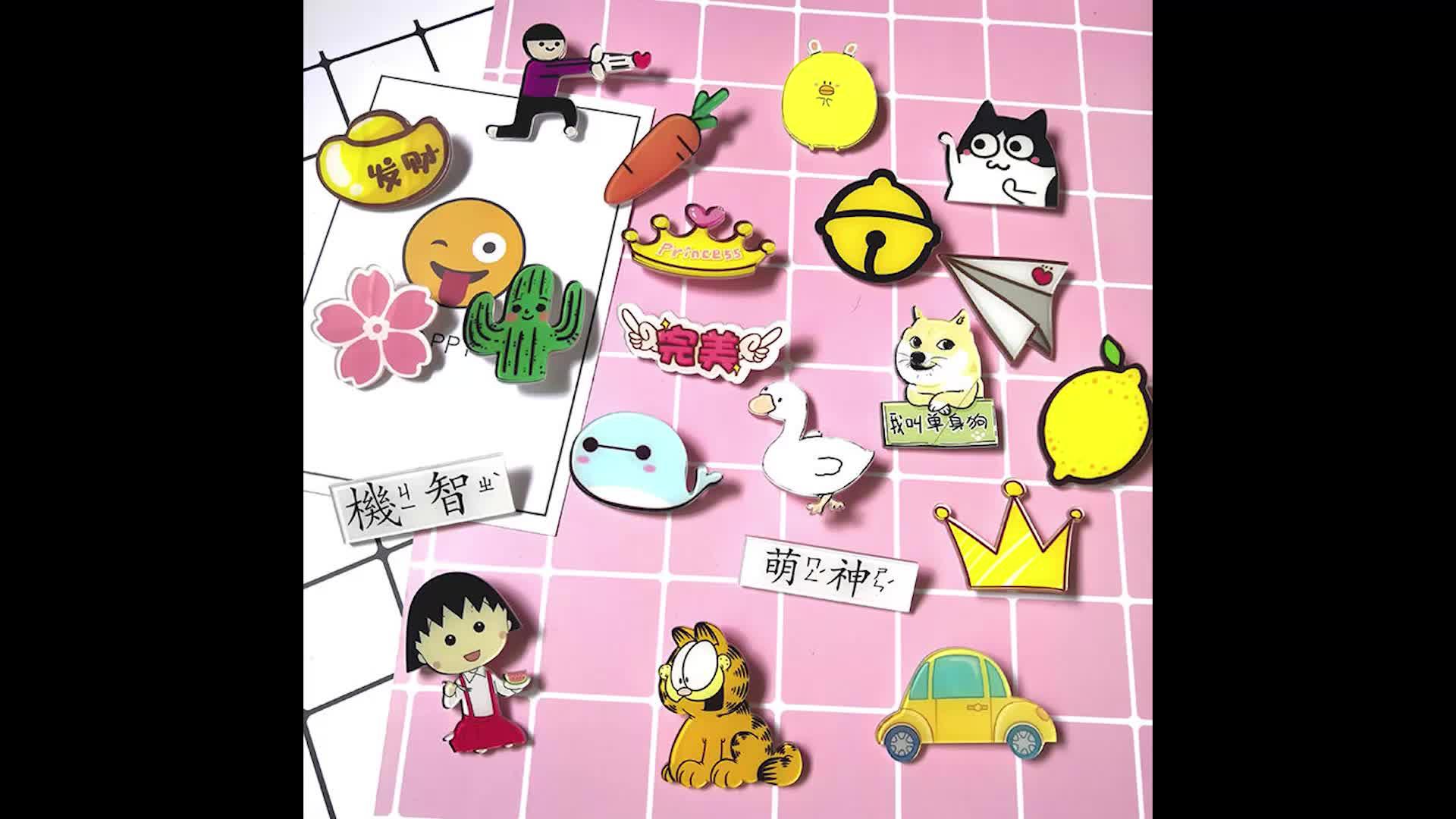 custom design lapel pin Soft Enamel Badge With Paper Card