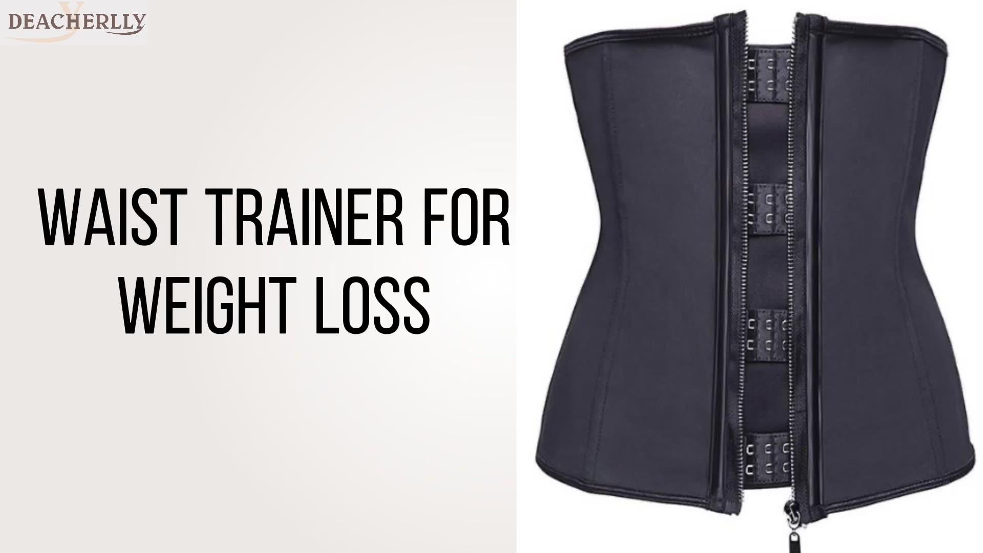 Plus Size 5XL Waist Trainer Belly Corset Reductoras Underbust Latex Waist Cincher