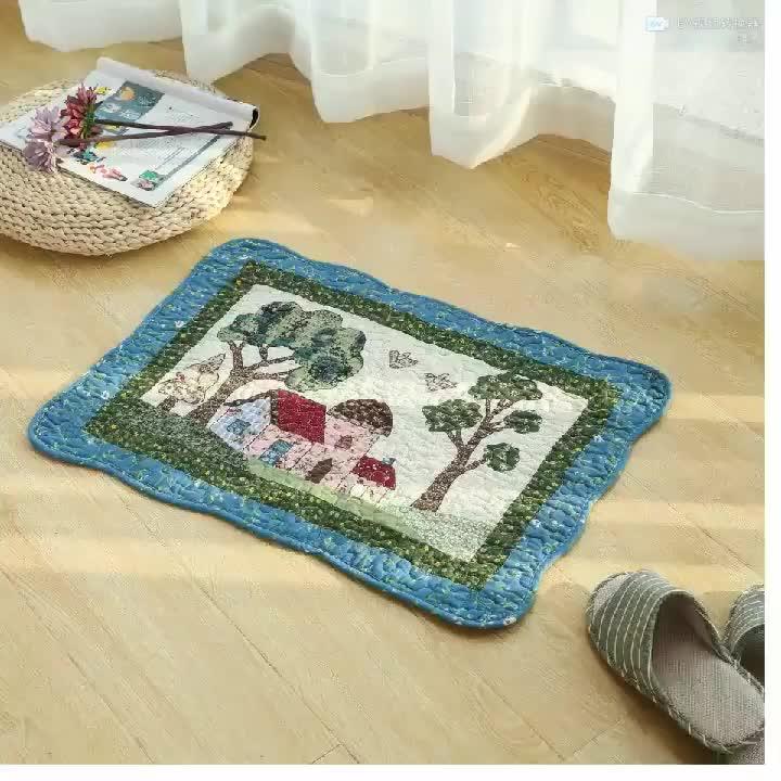 Baumwolle Patchwork Anti-rutsch Küche Flur Indoor Outdoor Fußmatte