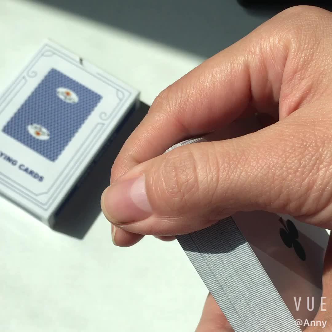 Cina commercio all'ingrosso su misura di stampa carte da gioco gioco pvc di plastica gioco di carte da poker