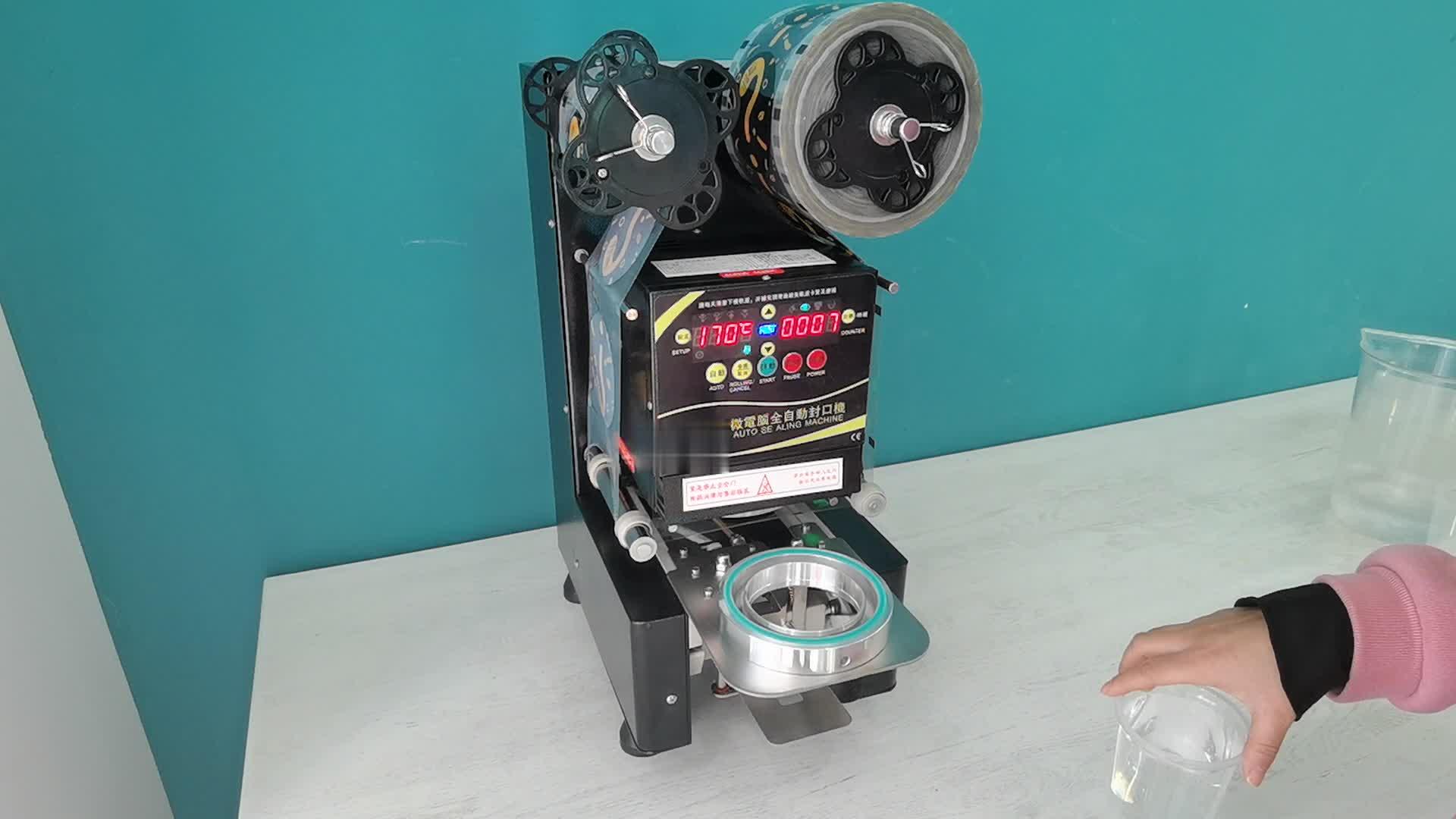 Bubble Tea Automatic Cup Sealing Machine/Tabletop Sealers/Plastic Cup Sealer