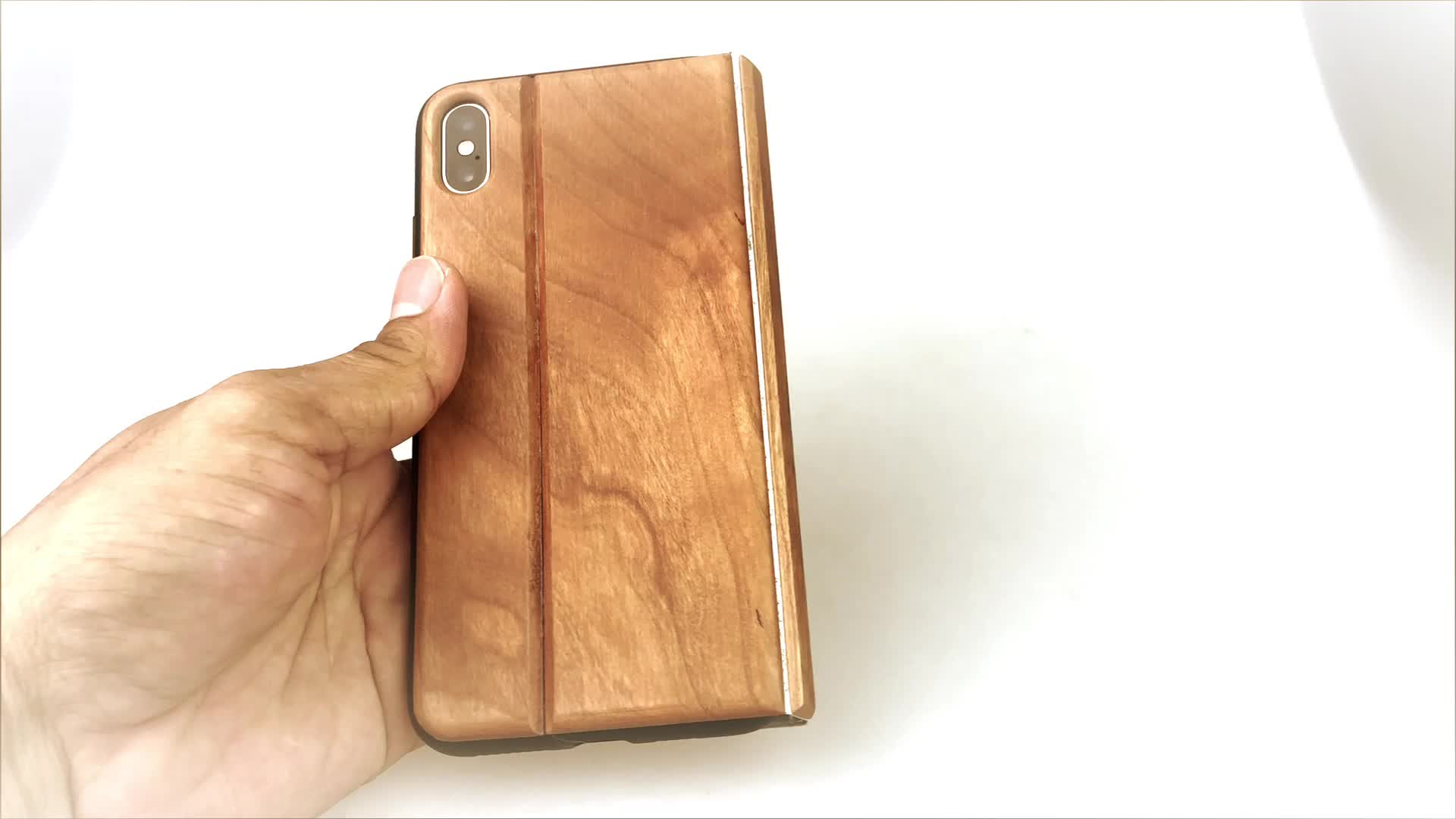 2020 wallet flip wood leather case cover for iphone Xs Max