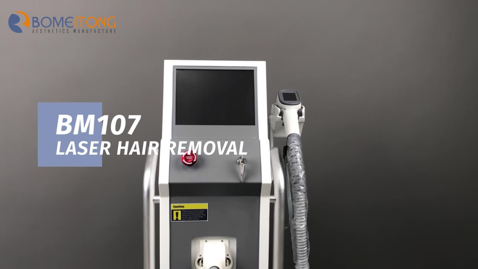 BM107  permanently diode laser hair machine 755 808 1064nm price