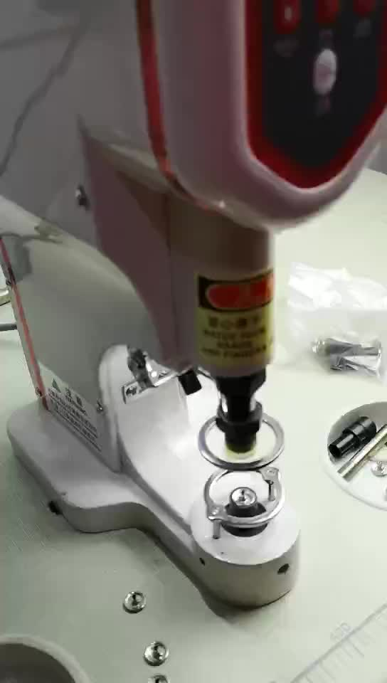Manufacture good quality servo snap button sewing machine