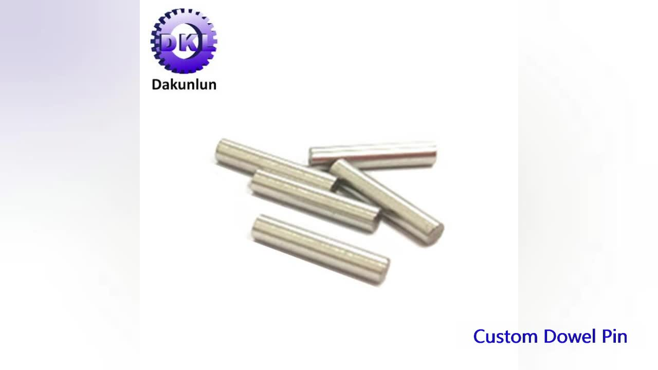 Custom Precision Turning Stainless Steel Straight Knurled Pin