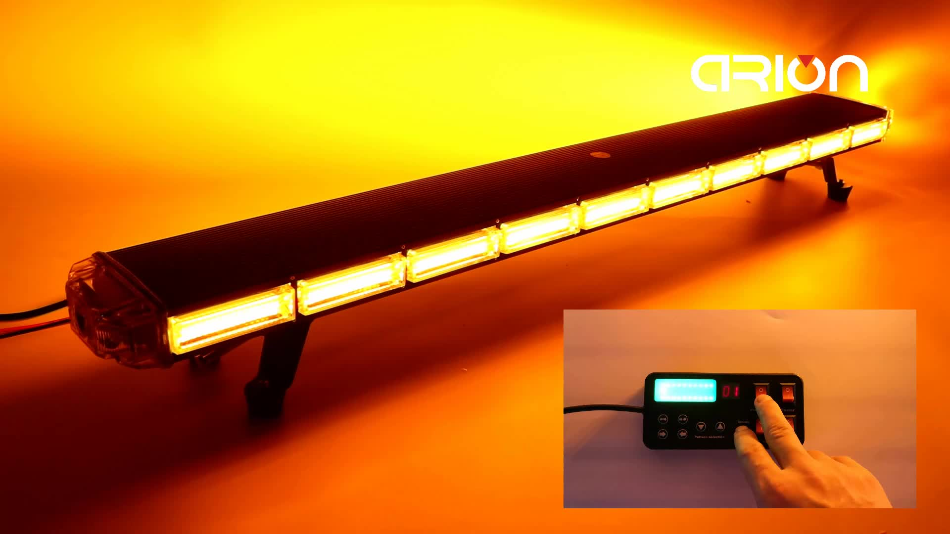 47 inch COB led strobe lights amber white red blue car truck emergency warning light bar 40 Flash modes