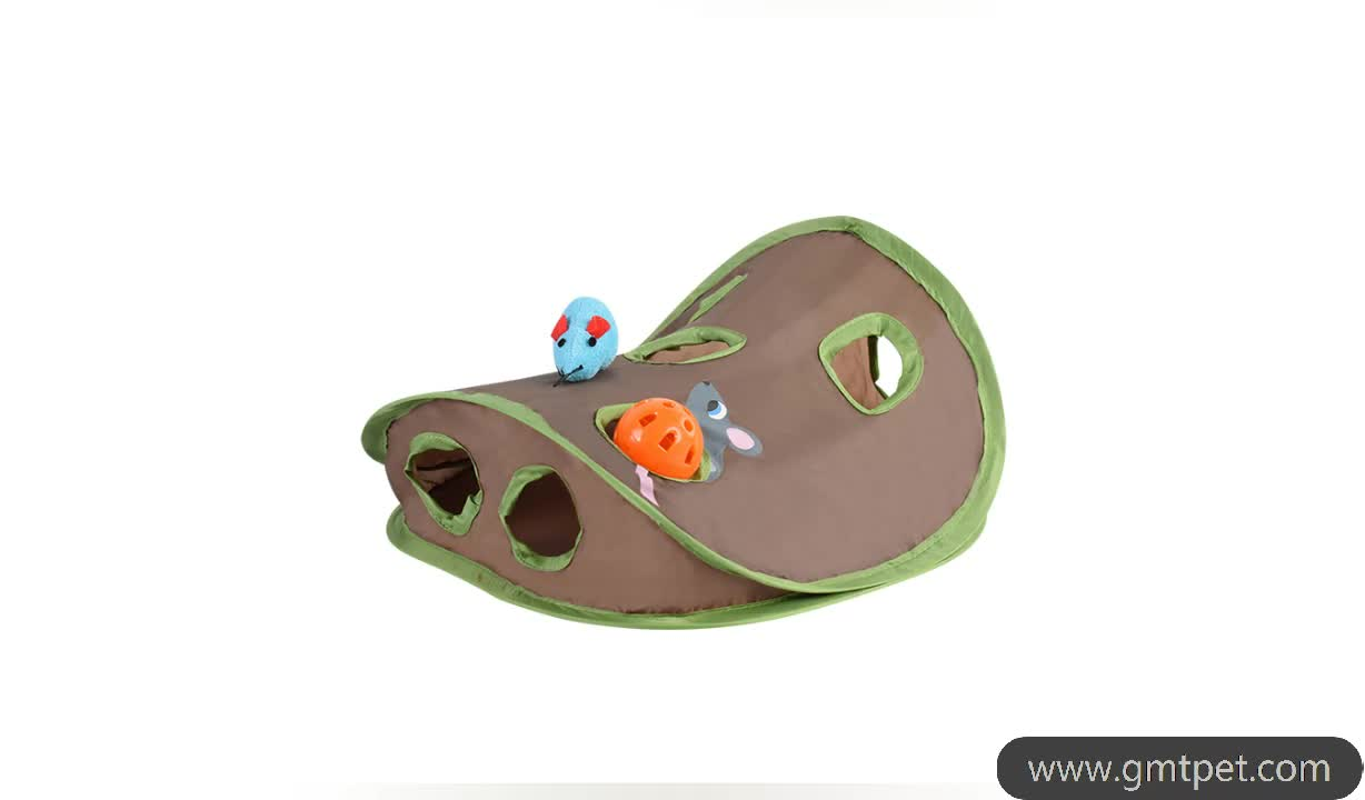 Polyester Fabric Funny Interactive Training Collapsible Toy Mouse Cat Toys