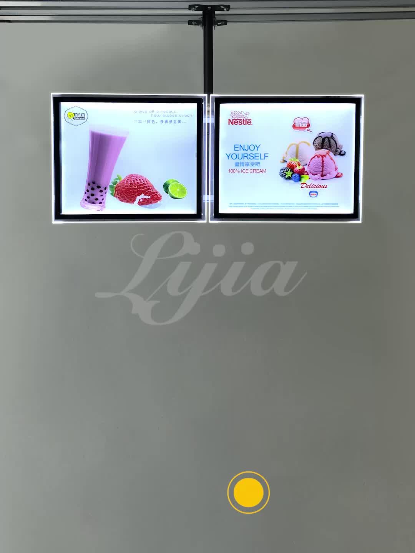 Montado en la pared de la publicidad de los medios reproductor digital menú para restaurante