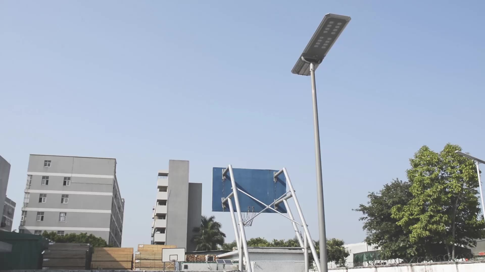 Separate Solar Panel Solar Street Light Pure White 3000Lumens