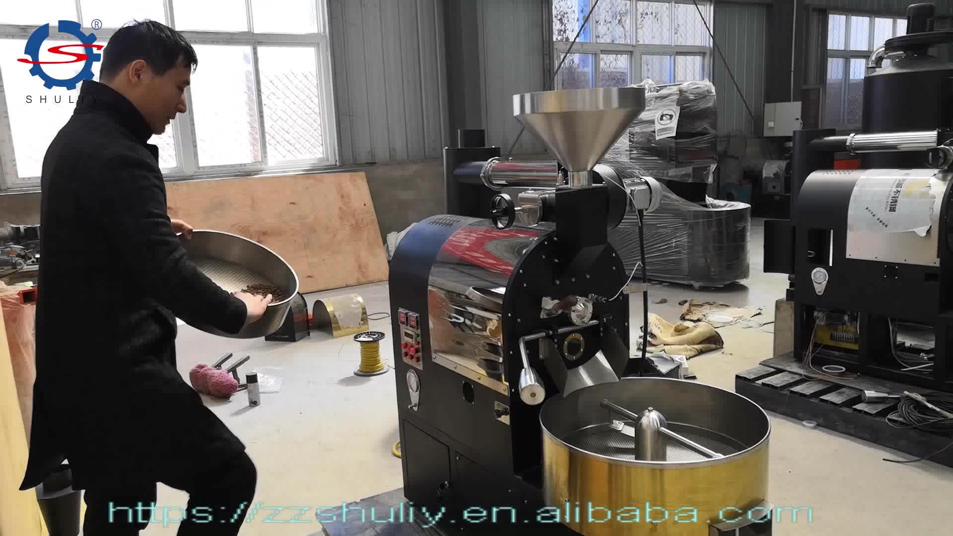 Altın Rengi 1 KG Gaz Propan Kahve Kavurma Makinesi Kahve Dükkanı Kullanımı Için