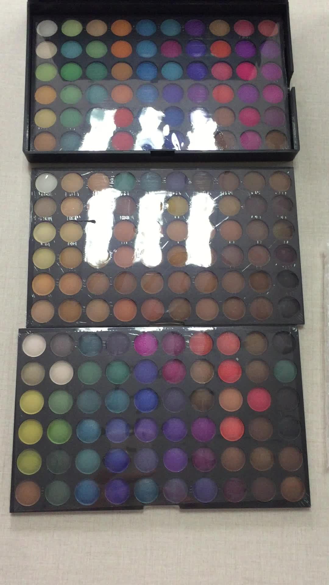 Wholesale Print Logo Small Quantity 180Color Matte Eyeshadow Make Up Eye Shadow Palette