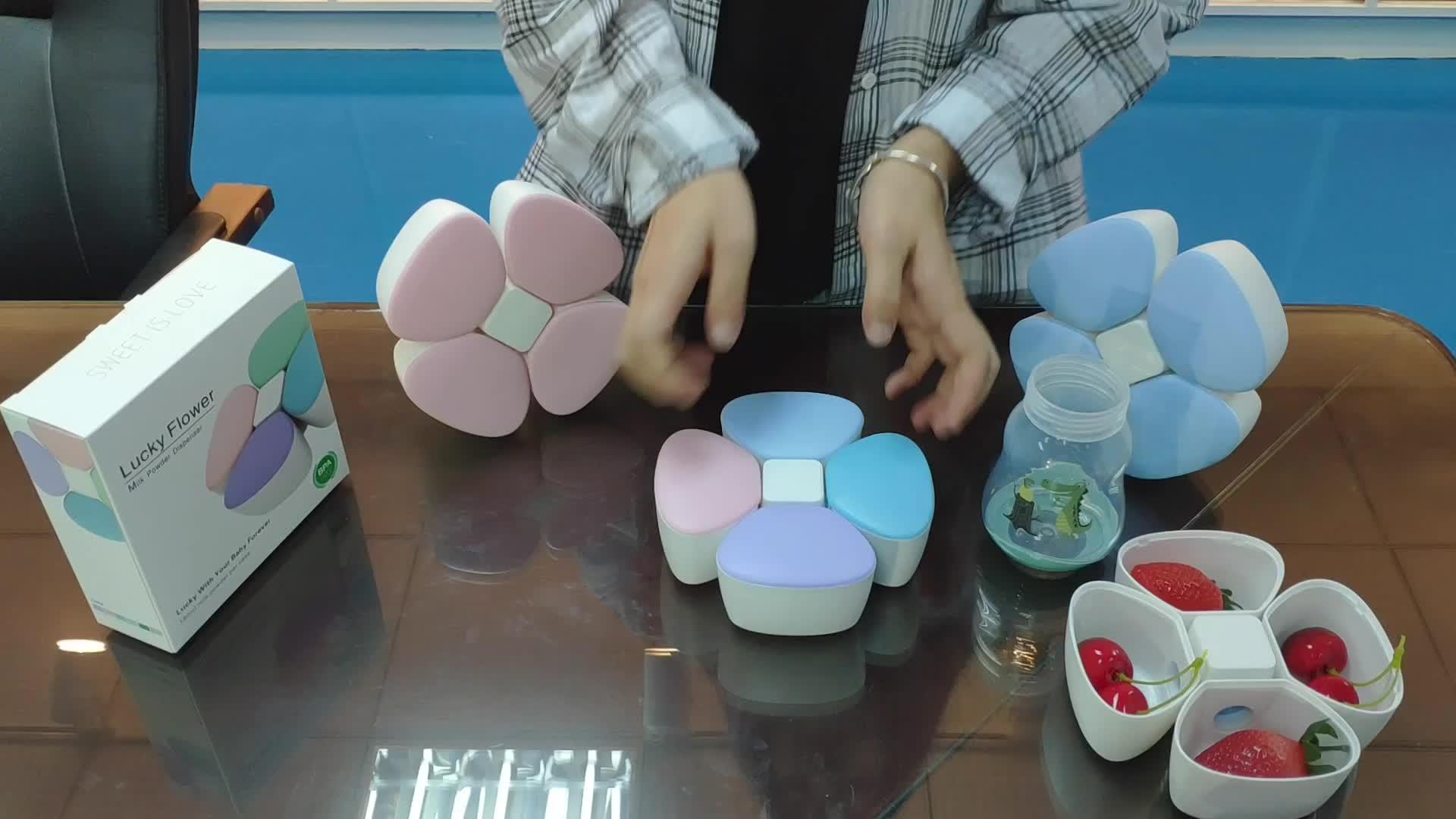 Goedkope Prijs Handig Praktische Grote Capaciteit Snack Opslag Innovatie 4 Cellen Baby Melk Opslag Container Te Koop