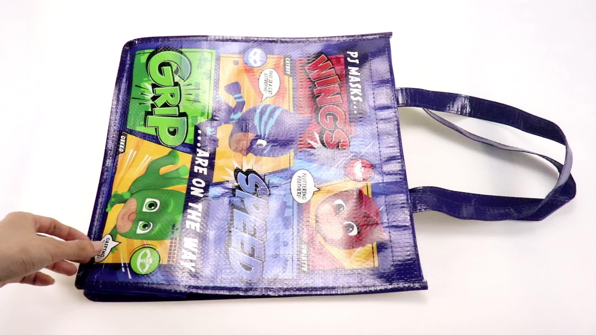 Promocional personalizado reciclável laminado pp não tecido do saco de compras
