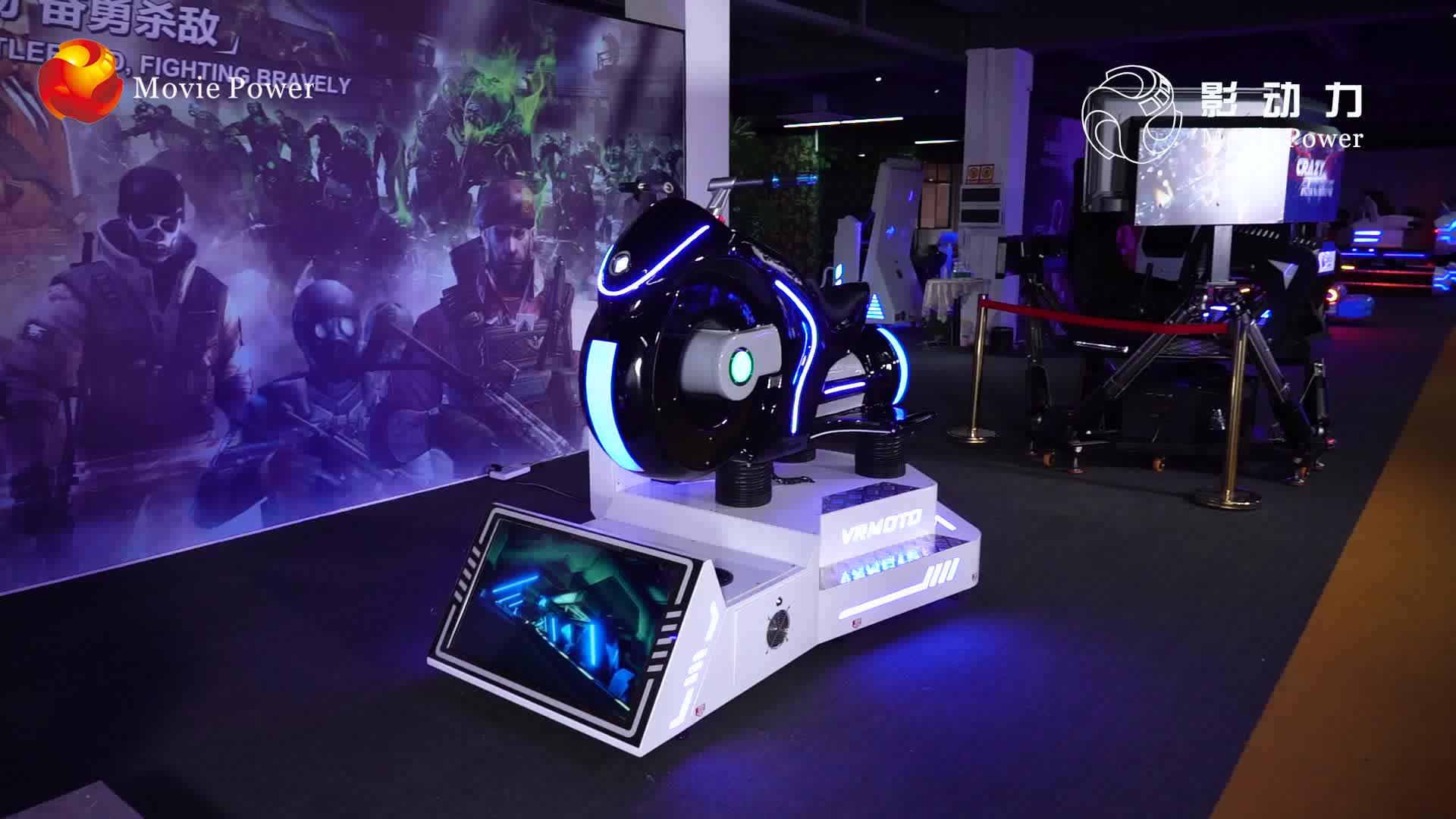 Deepoon Fahrgeschäfte 360 Grad VR Reiter Racing Simulator VR Motorrad VR Moto Auto Simulator