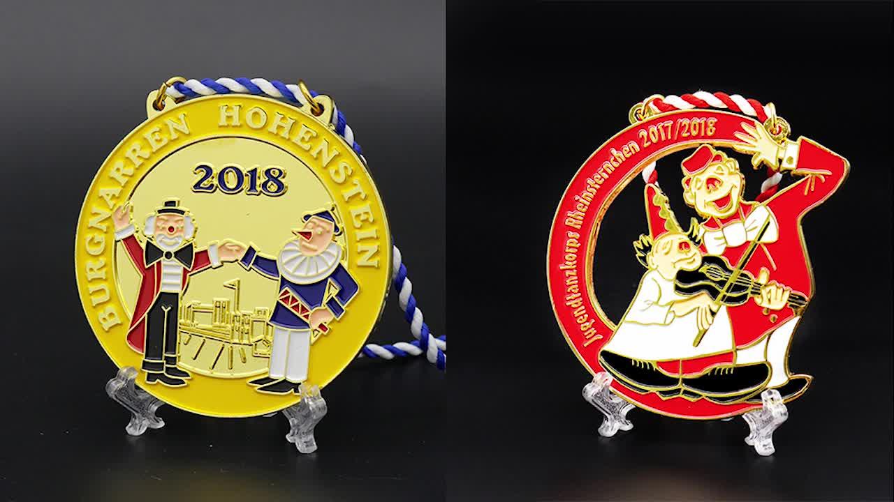 Производство Персонализированные пустые 3d спортивные литья мягкой эмалью на заказ Золото Серебро Бронза Чемпионат награды медаль почета
