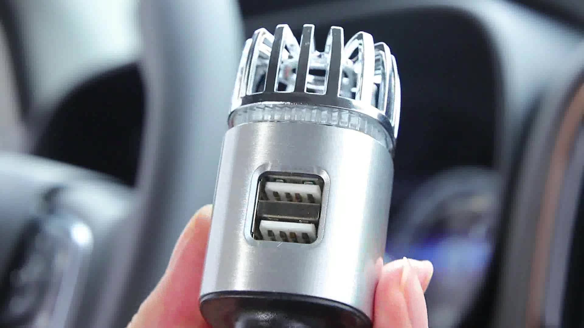 Amazon Hot Selling Electronic Gadgets Car Air Cleaner 2-in-1 Dual USB Car Charger For Smart Mobile Phone
