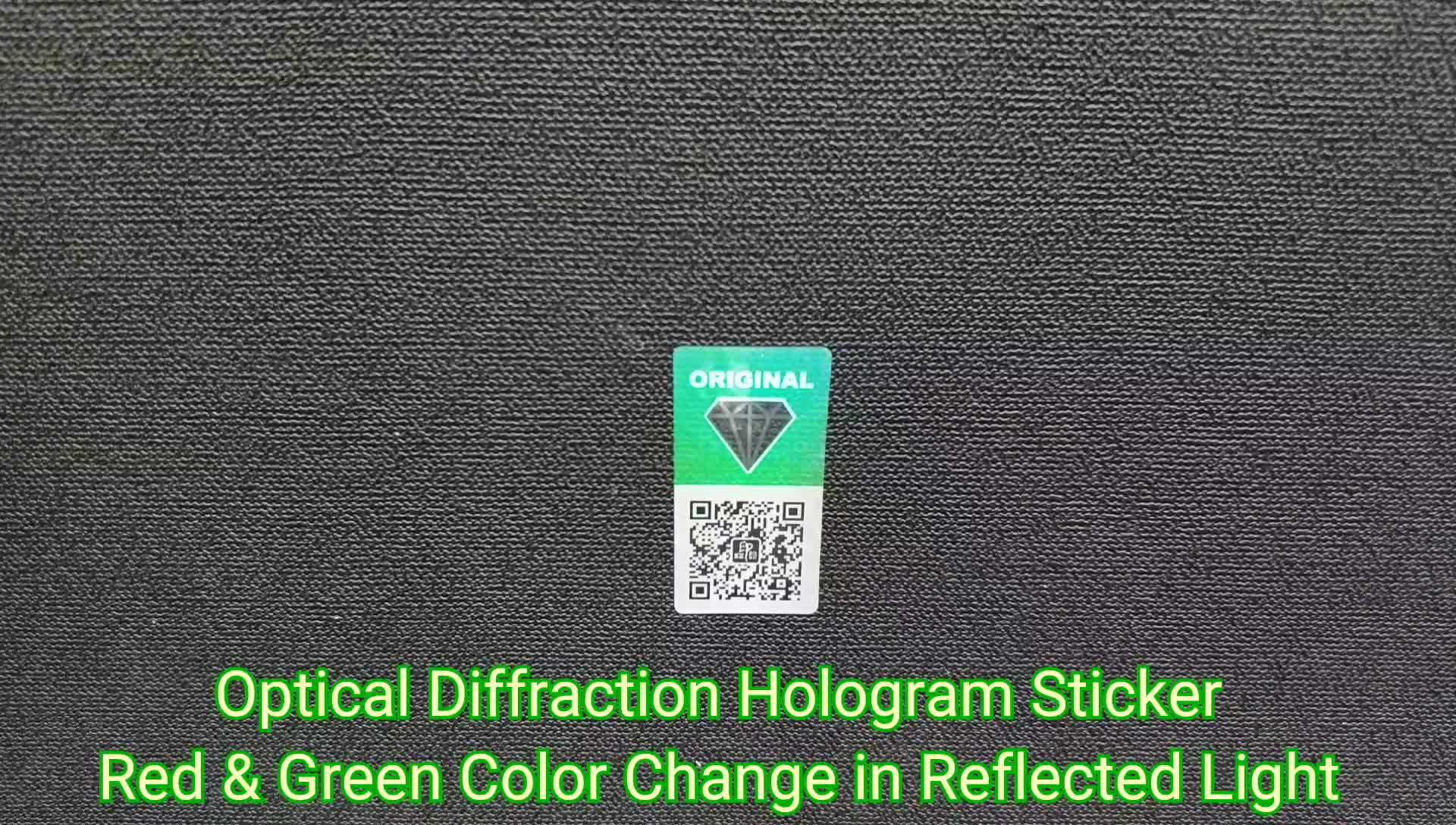 Customize Adhesive Anti-fake Holographic Label