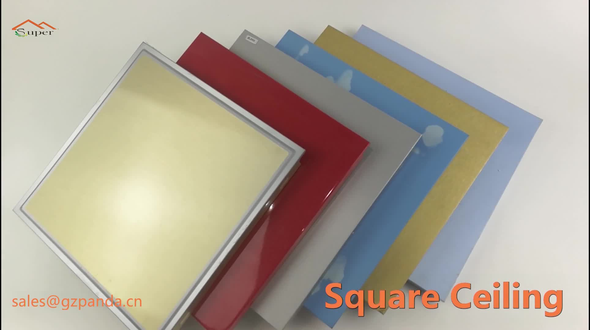 Suspended Aluminum Ceiling New Types of False Ceiling Boards