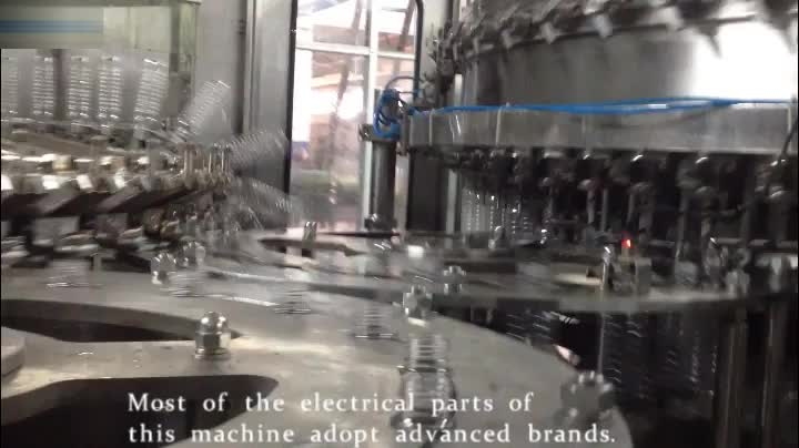 Automatic Liquid Filling machineries line/Auto RCGF 32-32-10 juice bottling machine and automatic bottling machine