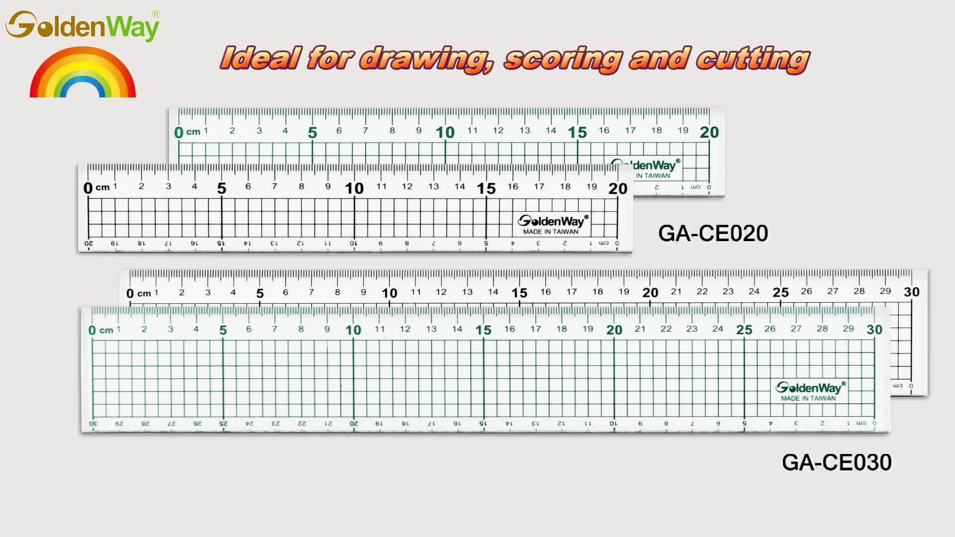 30 cm Top-selling Patchwork Plastic School Ruler