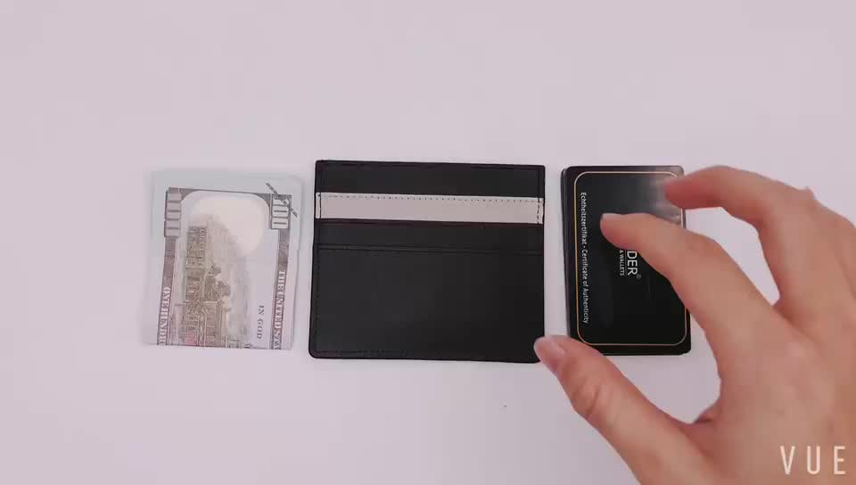 Custom logo cheap travel card holder mens wallet personalized rfid genuine rfid leather personalized logo card holder