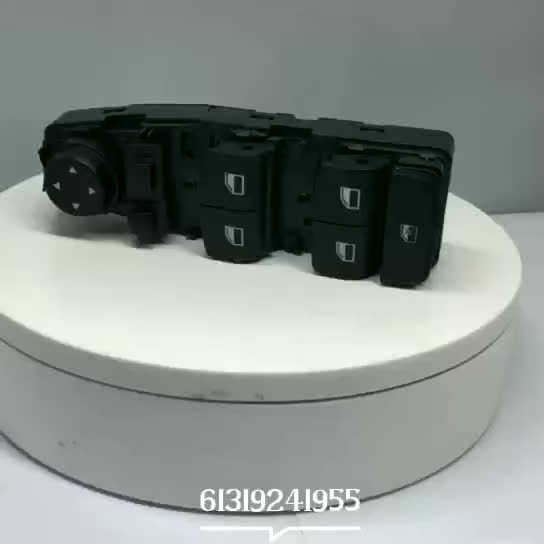 61319241955 Power Window ControlSwitch, Front & Right Window Switch For BMW