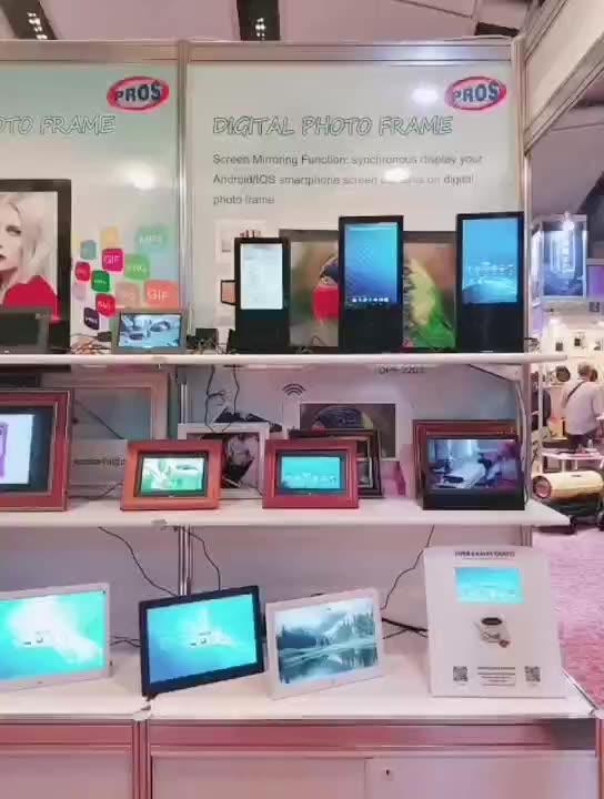 Деревянная цифровая фоторамка 12 дюймов HD дисплей видео электронная фоторамка с дистанционным управлением широкий экран Цифровая фоторамка