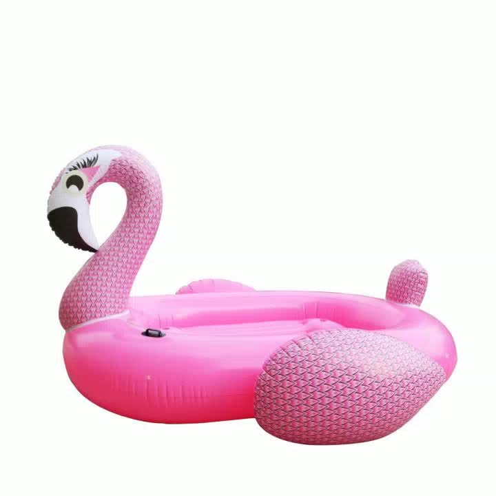China make 8 people Inflatable Pink Flamingo pool float for Adult/Children