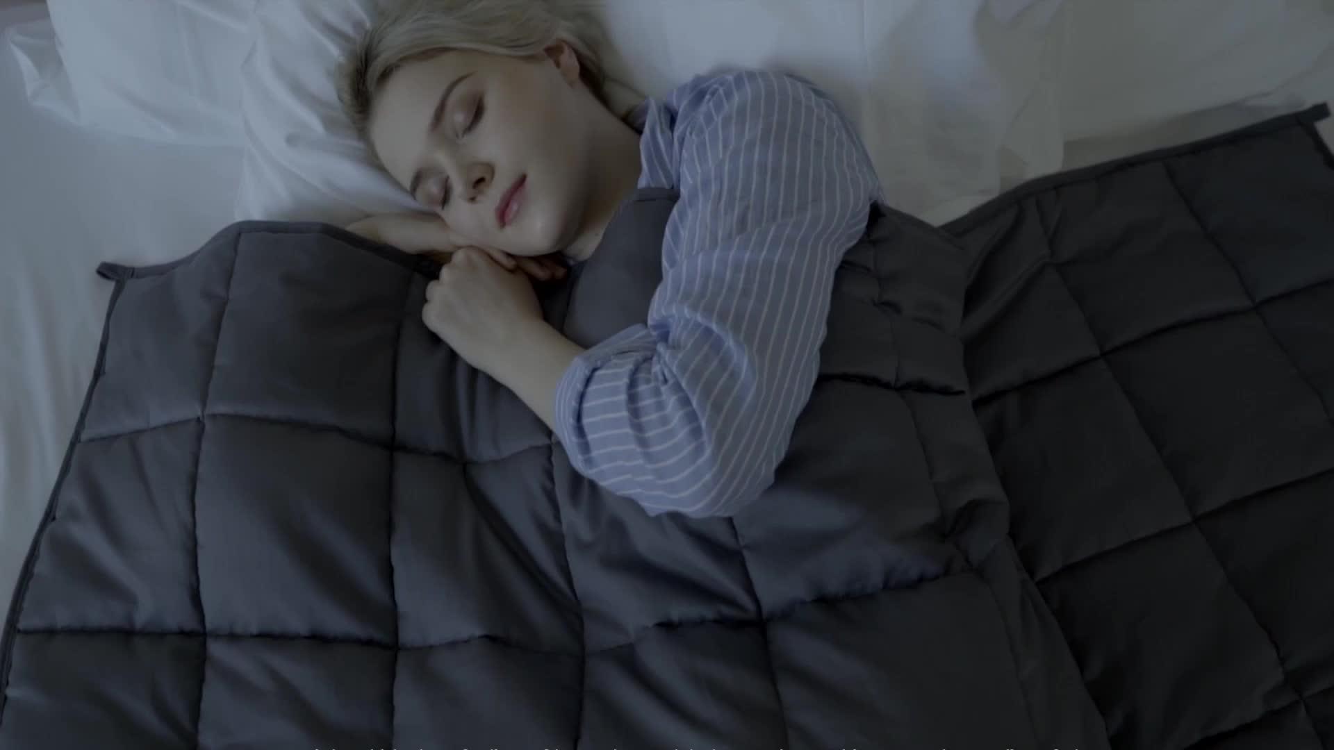 블랙 금요일 대상 월마트 뜨거운 판매 FDA 승인 minky to minky 맞춤 가중 담요