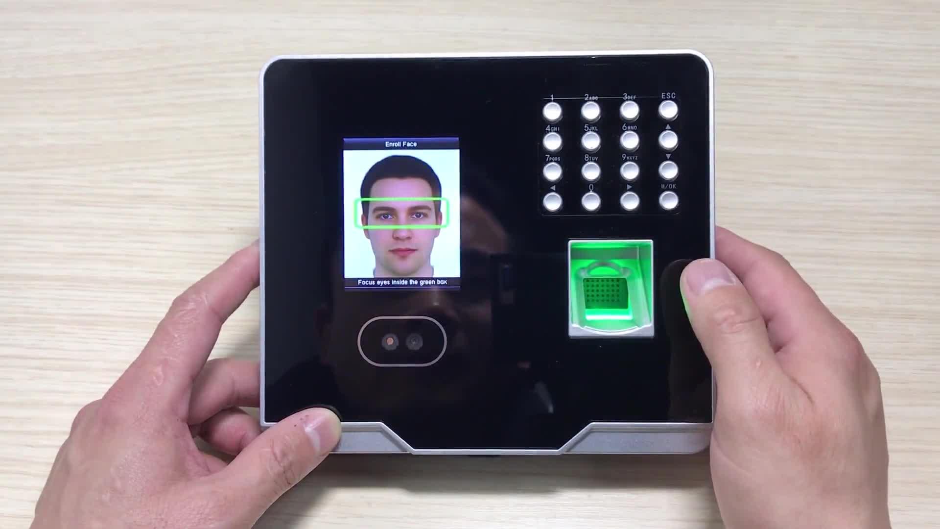 2.8 inch TFT touch screen 1500 face 2000 fingerprint Biomeric access control terminal(MB360)