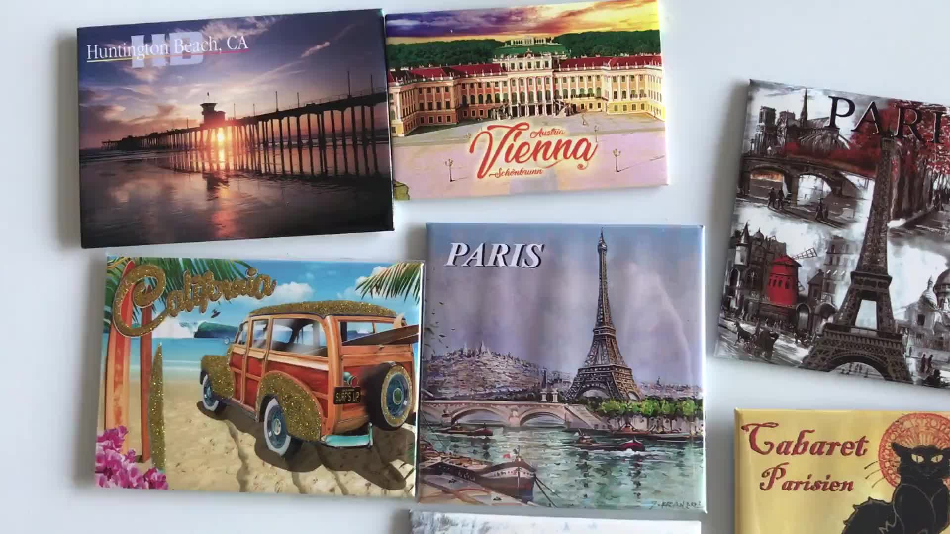 tinplate material tourist souvenir tin fridge magnet