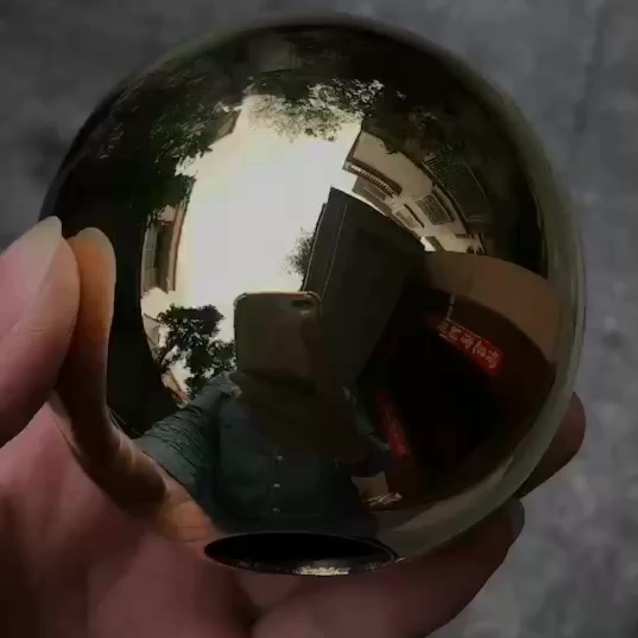 Small Brass hollow  Ball for funiture