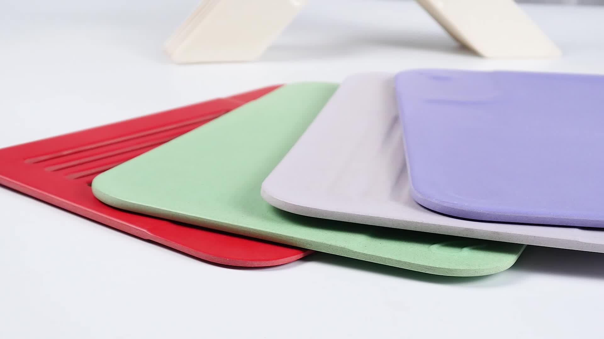 Rice Husk Chopping Board Custom Index Chopping Board