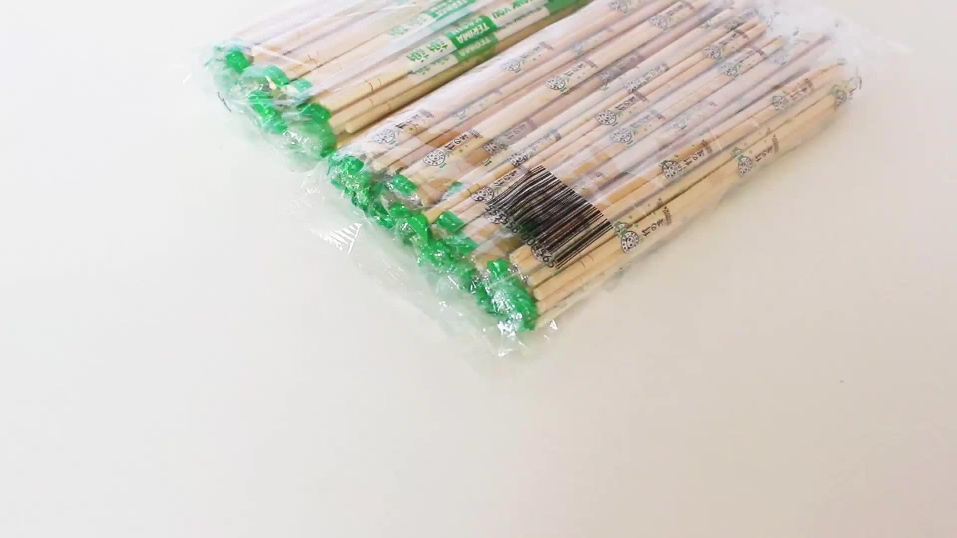 Eco-friendly di figura rotonda bacchette di bambù e getta