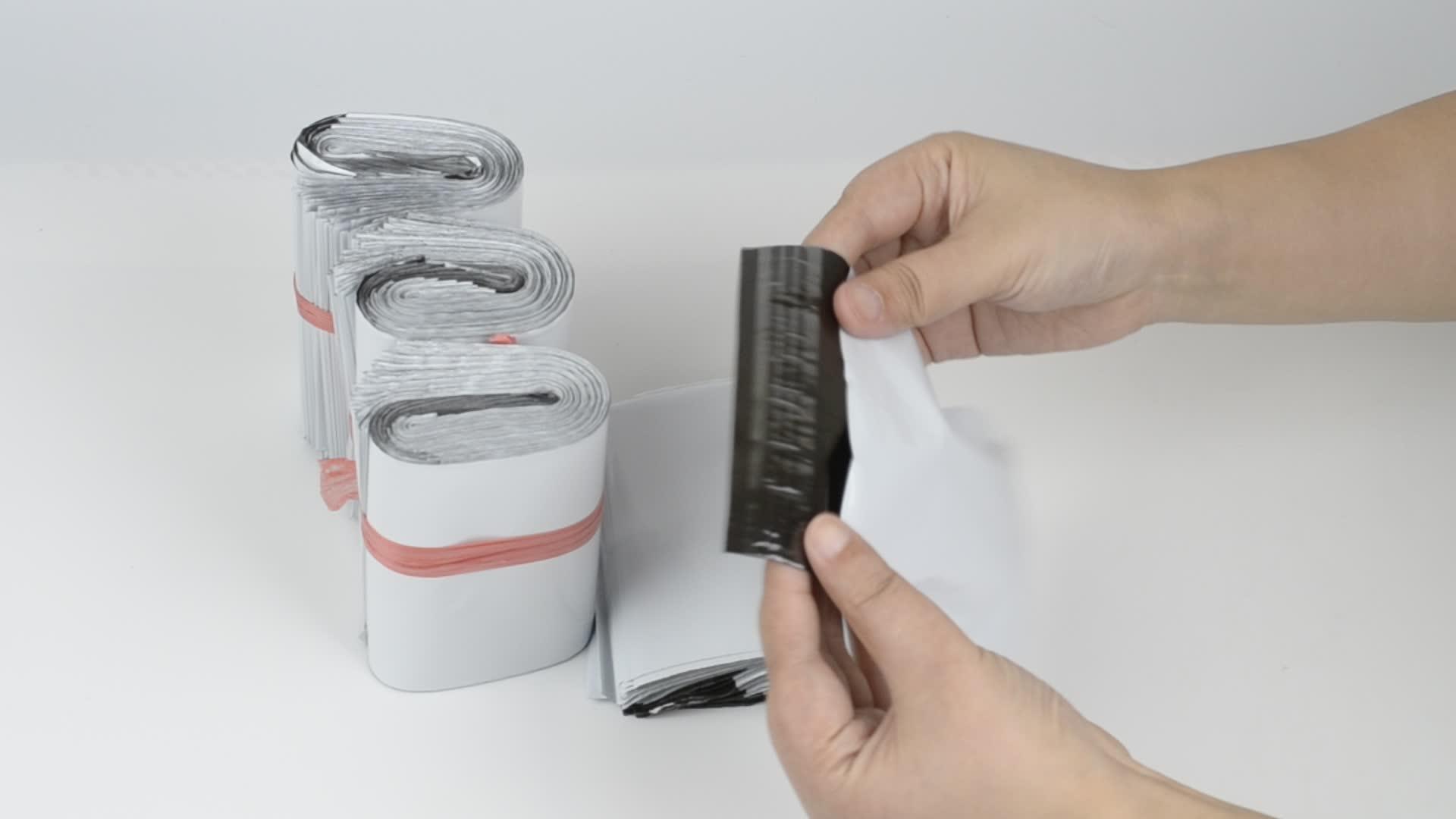 Màu trắng DHL UPS Nhựa Chuyển Phát Nhanh Gửi Thư Túi Tự Dính Seal Poly Túi Bưu Phẩm