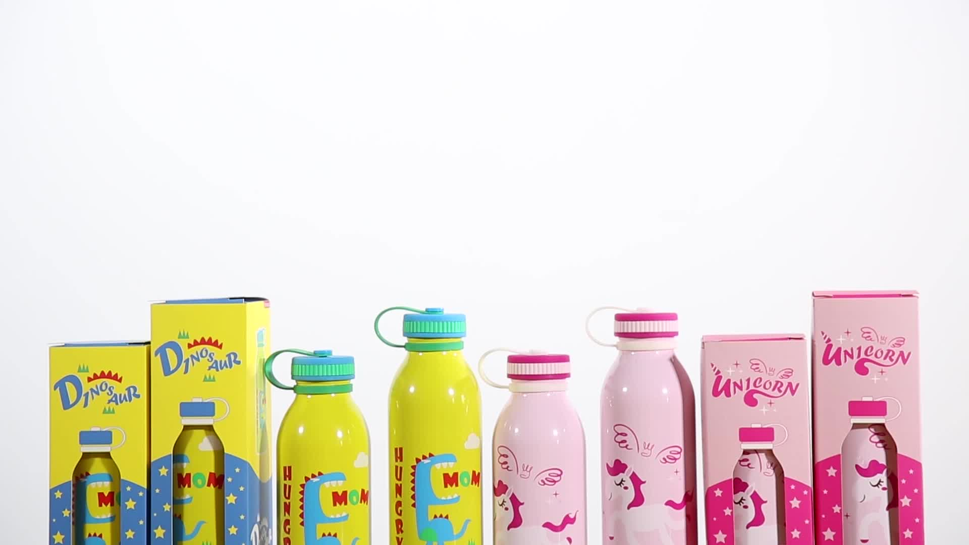 280ml Insulated vacuum stainless steel  kids sippy cup water bottle with straw