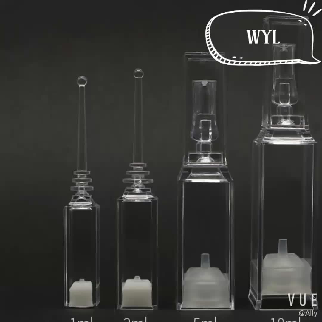 1 ml 2 ml 5 ml 10 ml Lege airless serum verse flessen, wegwerp spuit fles, verse flesjes airless fles voor schoonheidssalon