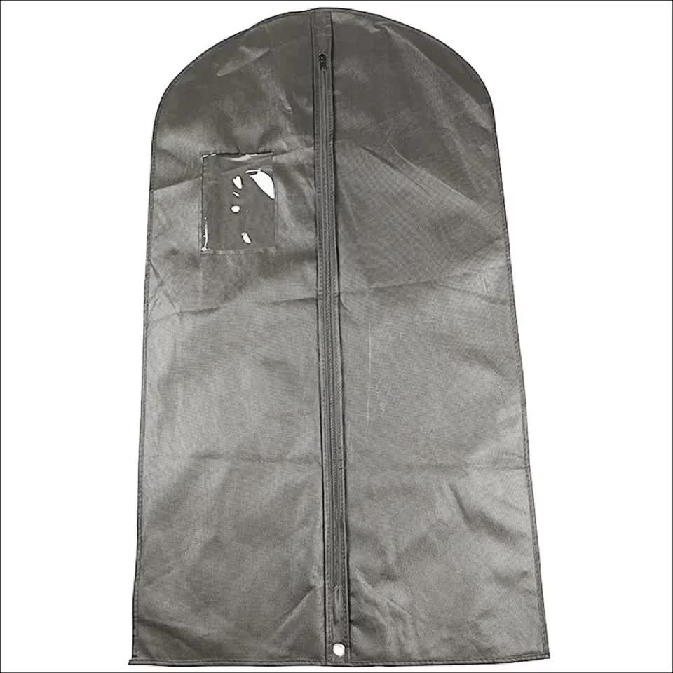 Garment Bags Covers for Luggage Dresses Linens Storage or Travel Suit Bag with Clear Window