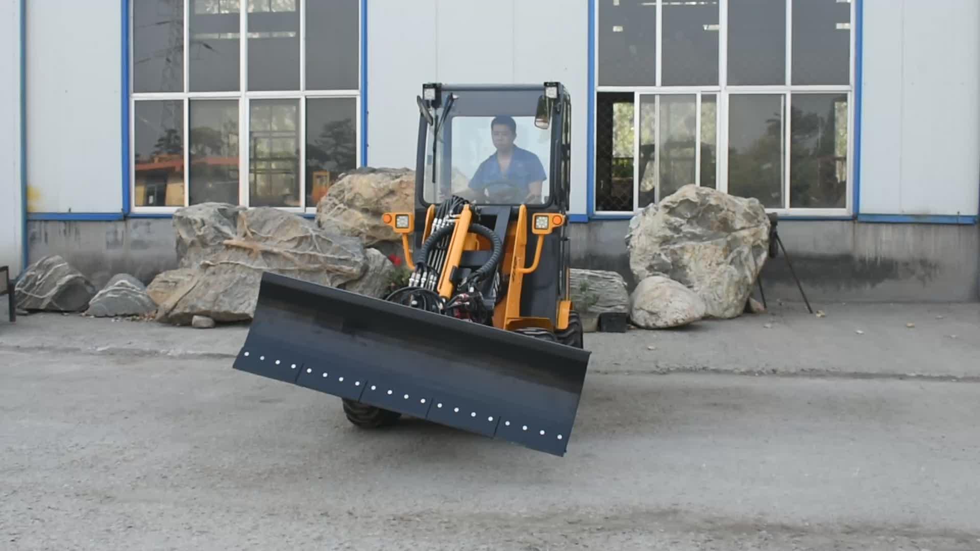 Bobcat sobre orugas skid steer mini excavadora dumper dozer blade pista cargadora de ruedas