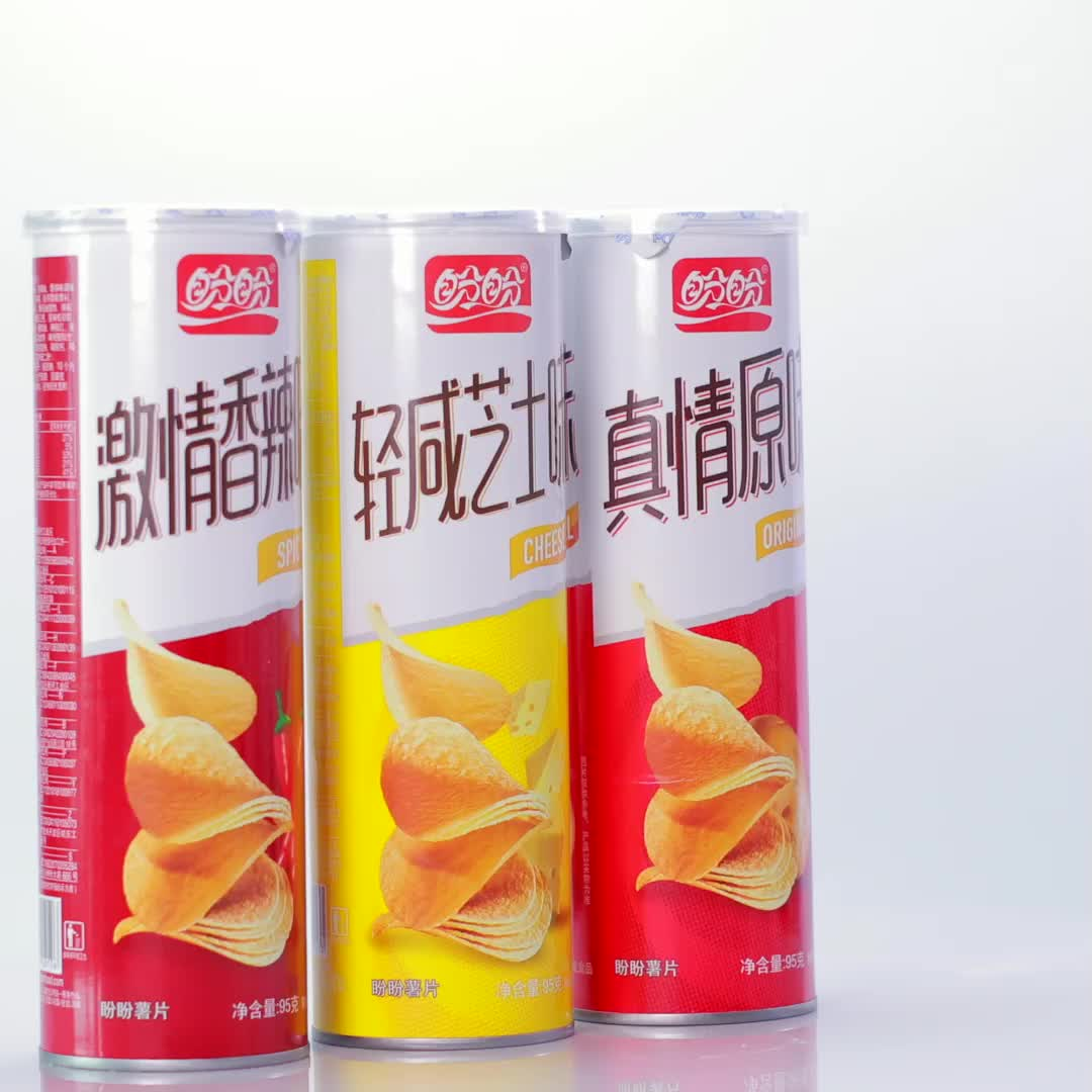 Panpan in can food products potato chips