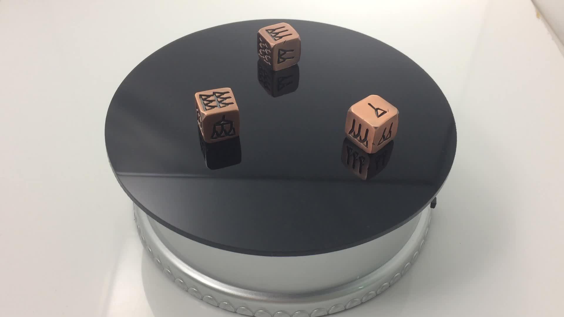 Vendita calda 16mm metallo dadi/inciso metallo dadi/personalizzata in metallo dadi