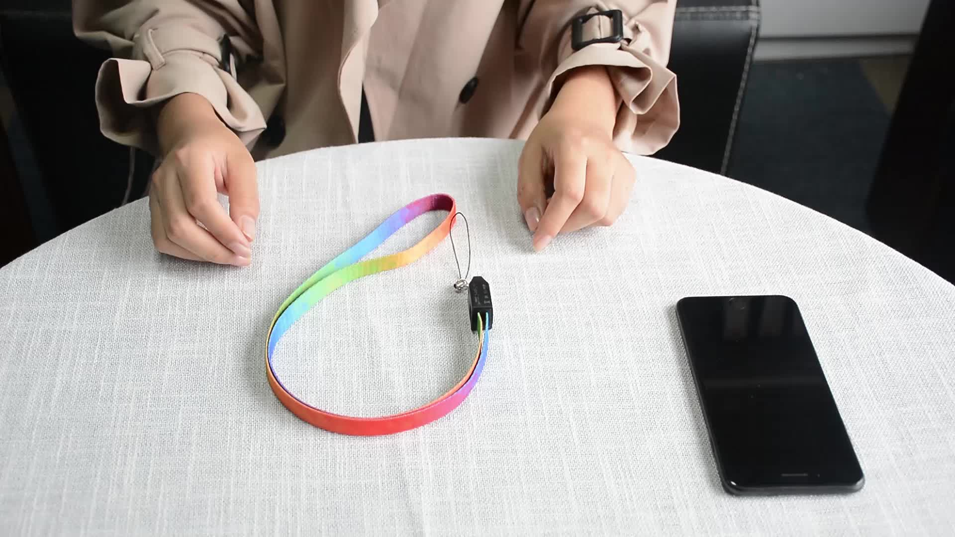 Free Sample Custom Fabric Multi Lanyard USB Charging Data Cable with Logo