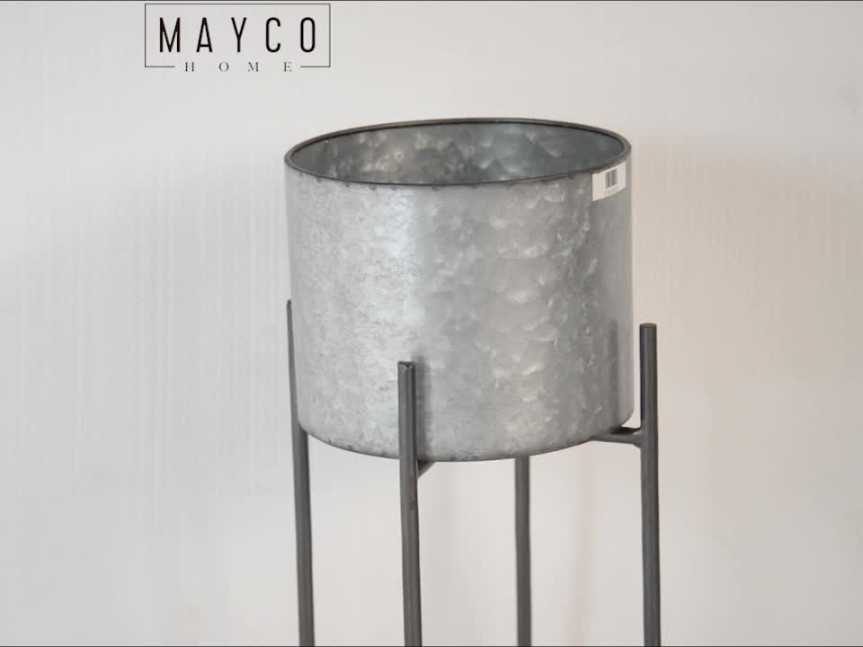 Mayco Folding Stair Design Round Wedding Iron Flower Pot Metal Stand